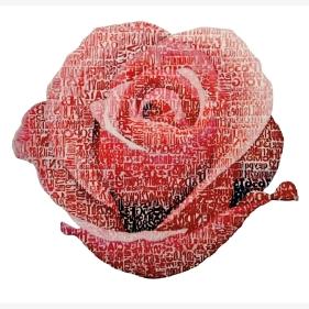 Una rosa sola è tutte le rose – omaggio a Rainer Maria Rilke (Giorgio Milani ), 2011 - da Whitelight Art Gallery