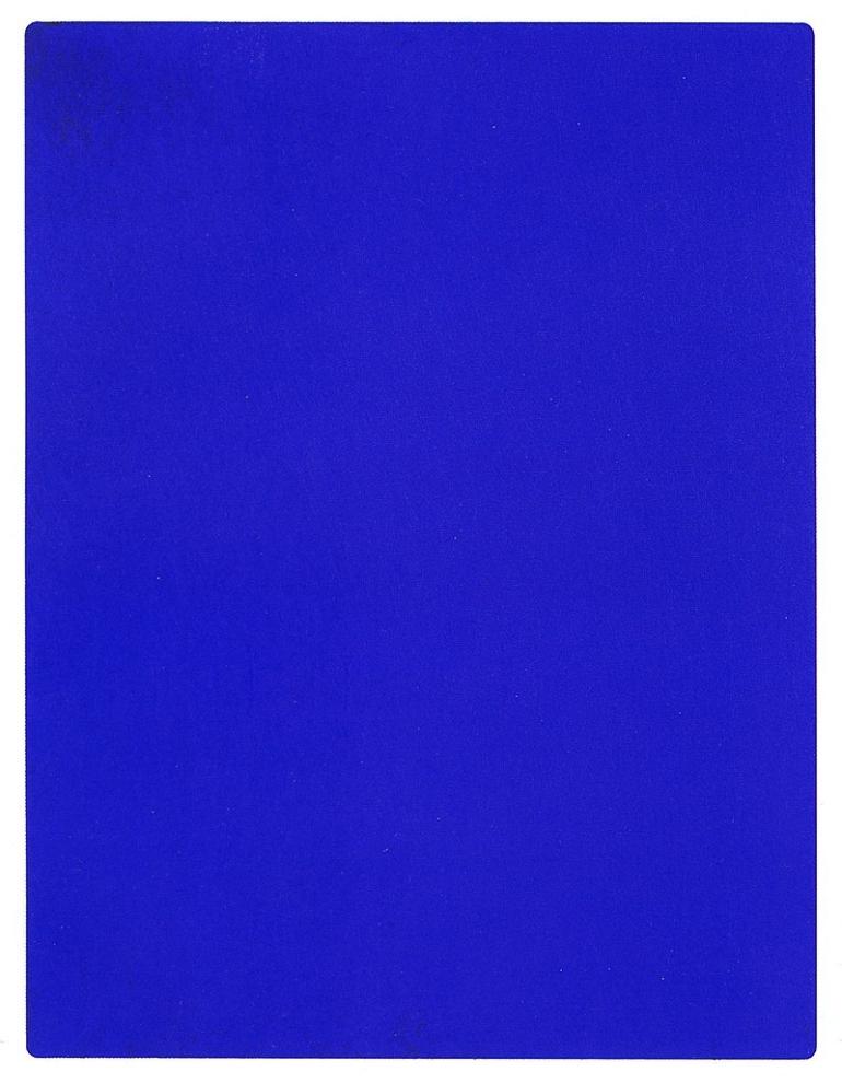 Yves Klein, 1956, la più perfetta espressione del blu