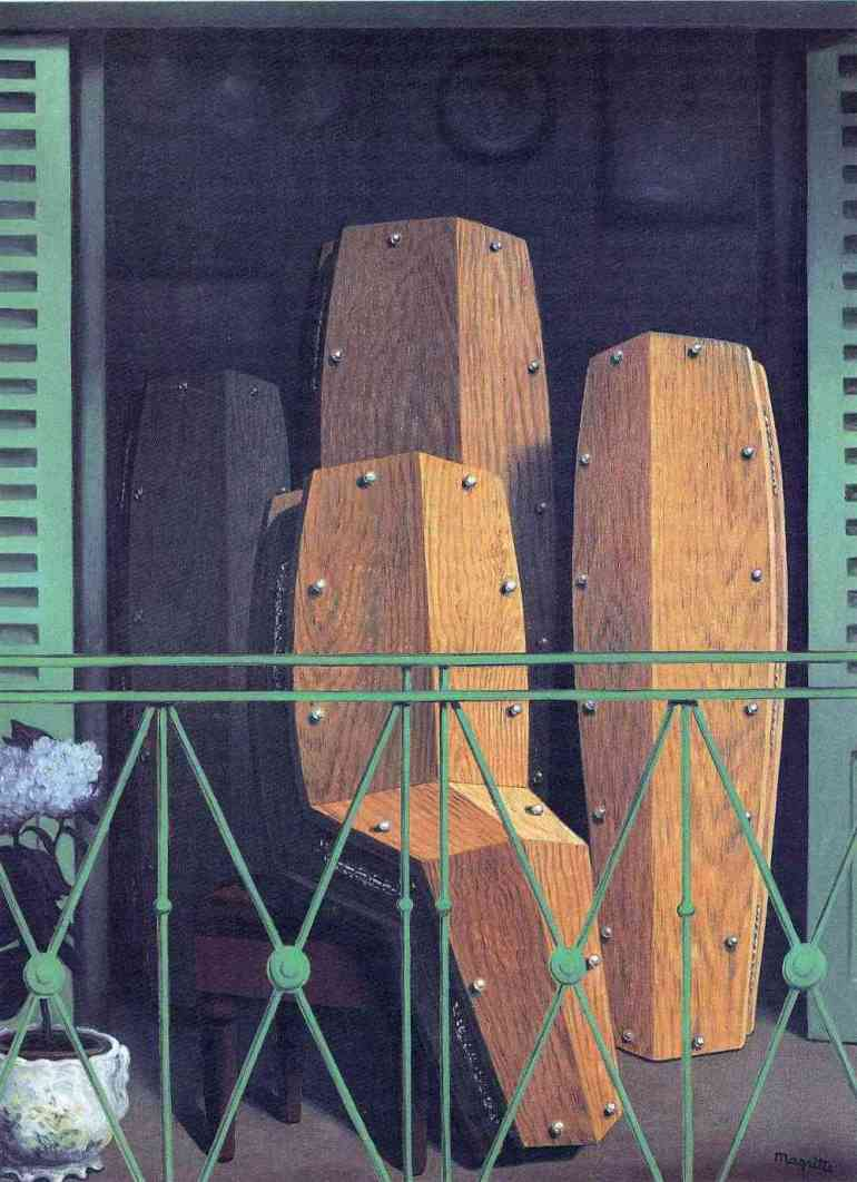 Artwork The Balcony by René Magritte 1950 - da Curiator