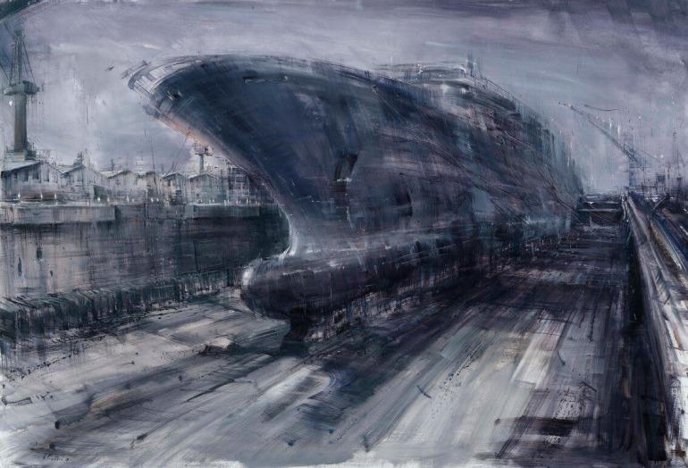 Bacino di Carenaggio, 2013, olio su tela, cm. 140x205 - da alessandropapetti