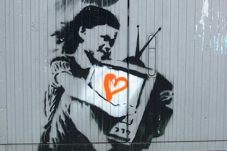 Banksy allegedly in Berlin - da Berlin Street Art