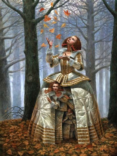 Enigma of the Generations, Artist Michael Cheval - da Pinterest