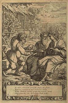 Esopo con i suoi ascoltatori dipinto da Francis Barlow nell'edizione del 1687 di Aesop's Fables with His Life. - da Wikipedia