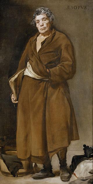 Esopo, dipinto di Diego Velázquez, 1639-1640, conservato nel Museo del Prado di Madrid. - da Wikipedia