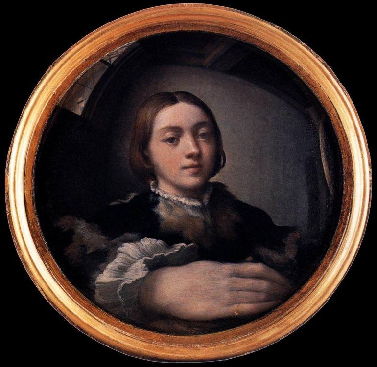 Francesco Mazzola detto il Parmigianino, Autoritratto allo specchio convesso, 1524 ca., Vienna - da Pinterest
