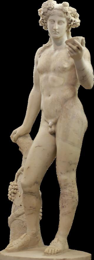 Il Dioniso Richelieu, copia romana di un originale del 300 a.C. circa, Prassitele (Parigi, Museo del Louvre) - da Wikipedia