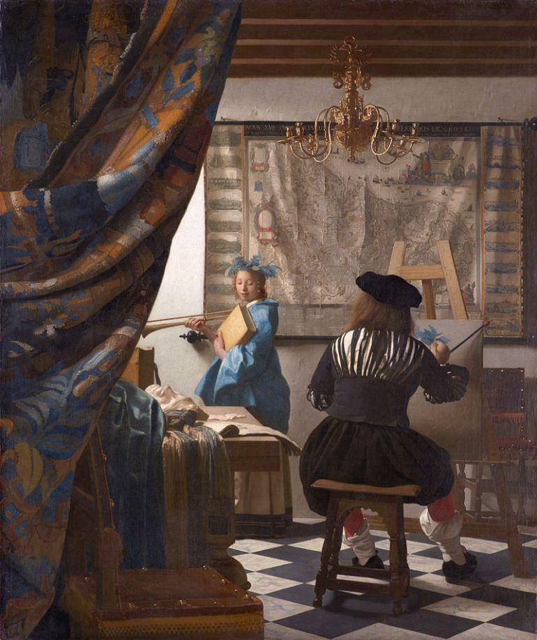 Jan Vermeer, il pittore e la modella, 1666 - 1668 - da Finestre sull'Arte