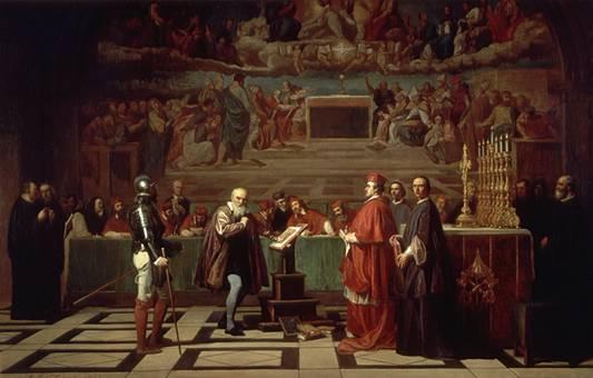 Joseph-Nicolas Robert-Fleury, Il processo di Galilei, XIX sec. - da Wikipedia