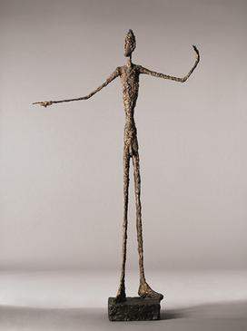 L'Homme au doigt, 1947, bronzo di Alberto Giacometti - da Wikipedia