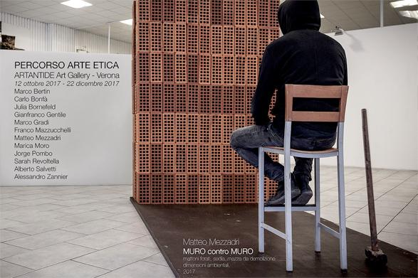 Matteo Mezzadri, PERCORSO ARTE ETICA, Artantide Art Gallery, Verona, Italy, curator, Sandro Orlandi Stagl - da Matteo Mezzadri