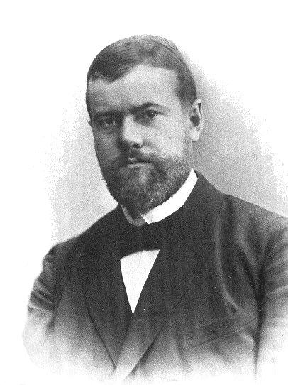 Max Weber nel 1894 - da Wikipedia