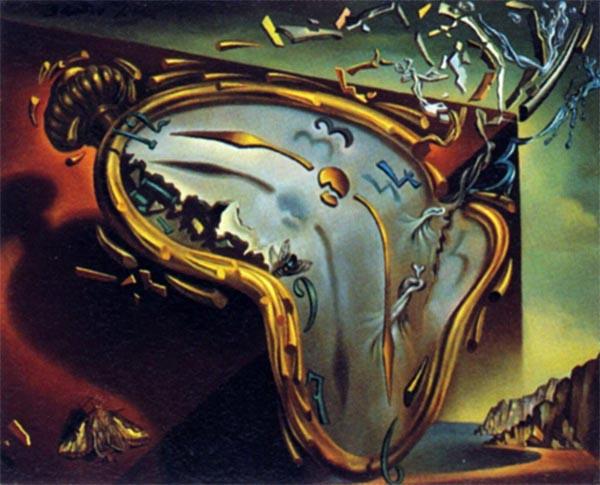 Montre molle au moment de sa première explosion, di Salvador Dalì (1954) - da artapartofculture