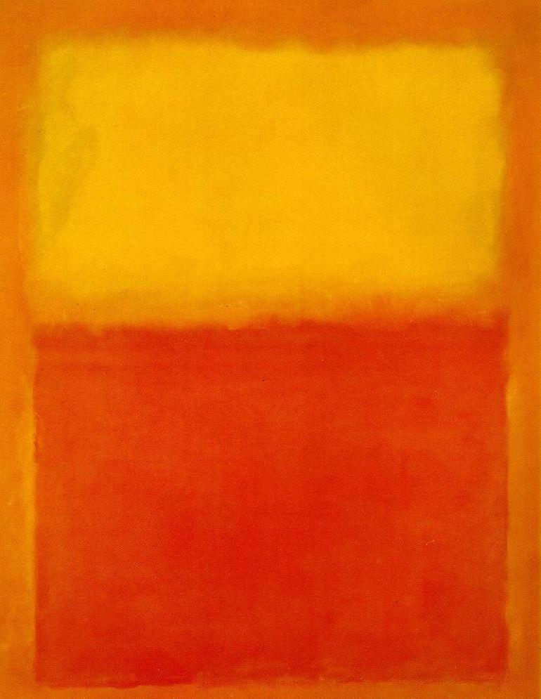 Orange and Yellow, 1956 by Mark Rothko - da Mark Rothko