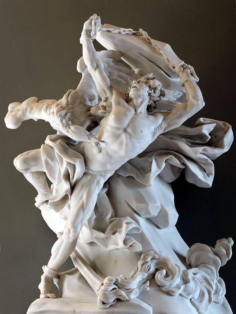 Prometeo incatenato, marmo bianco di Nicolas-Sébastien Adam, 1762, Parigi, Louvre - da Wikipedia