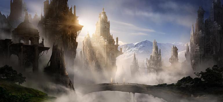 Skyrim Fantasy Ruins Digital Art by Alex Ruiz - da Fine Art America