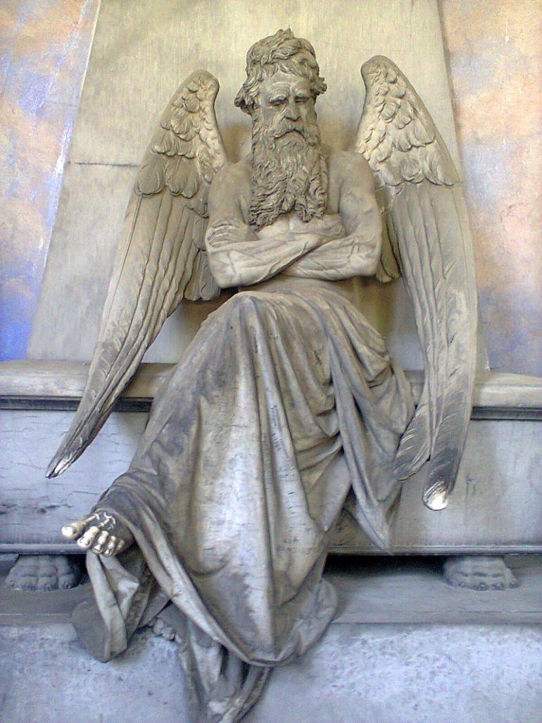 Statua del Tempo di Giuseppe Benetti (1873), scultura nel Cimitero monumentale di Staglieno (Genova) - da Wikipedia