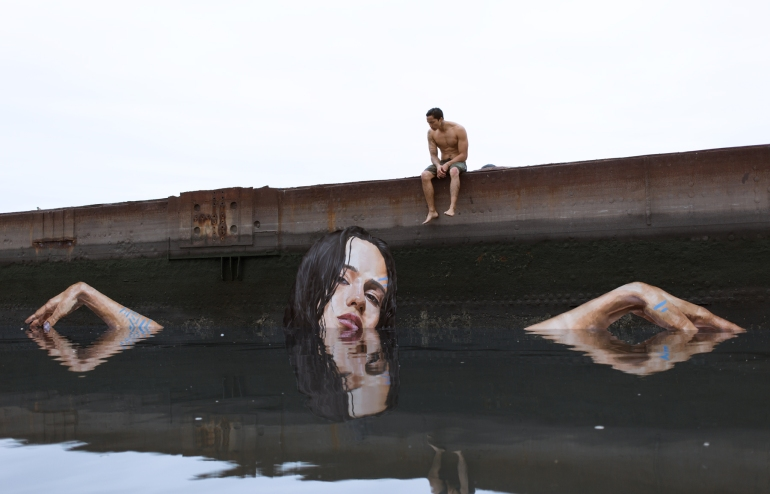 Take your paddle board and paint some murals - artist Sean Yoro - da The VandaList