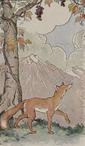 The Fox and the Grapes, Illustration by Milo Winter, 1919 - da Wikipedia