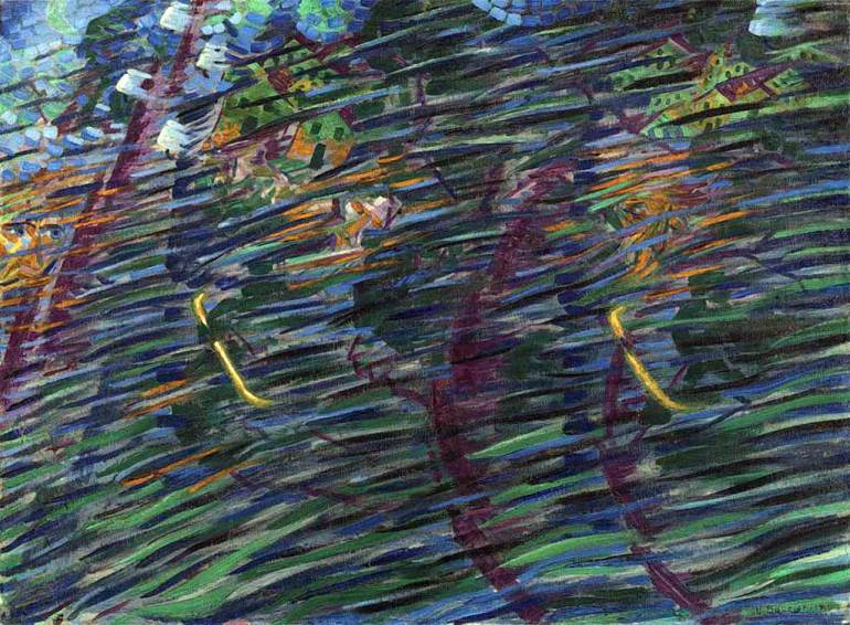 Umberto Boccioni. Stati d'animo. Quelli che vanno, 1911 | Milano, Museo del Novecento