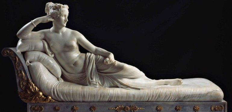1805-1808 - Antonio Canova - Maria Paola Bonaparte - Pauline Bonaparte - Galleria Borgese, Roma - da ArtSpecialDay