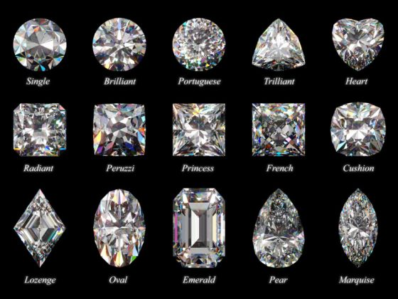 alcuni tagli di diamanti - da Il mondo delle gemme