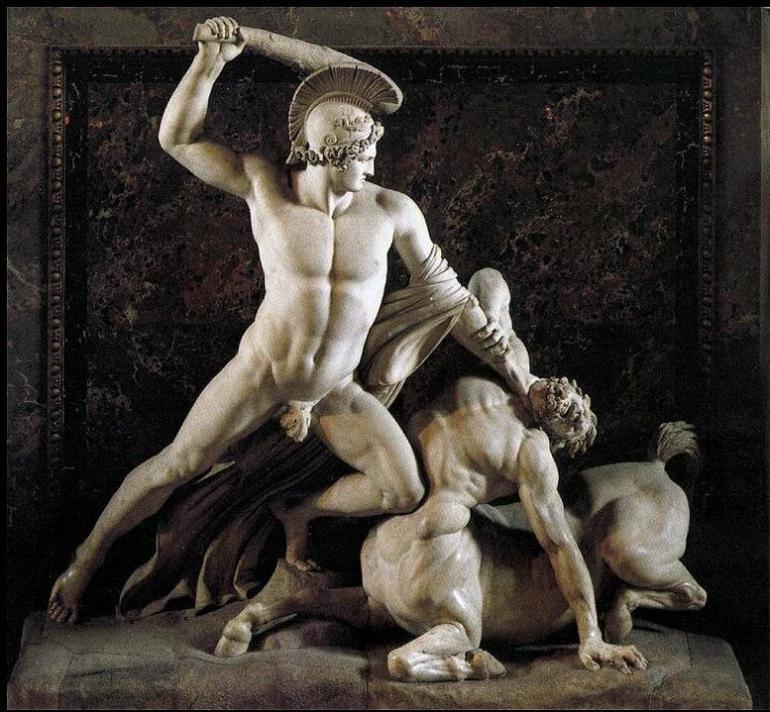 Antonio Canova - Teseo E Il Centauro - 1819 - da Il Caffé dell'Arte