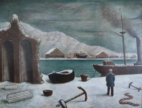 Arturo Nathan, Costa Ghiacciata con rovine, 1929 - da Weimar