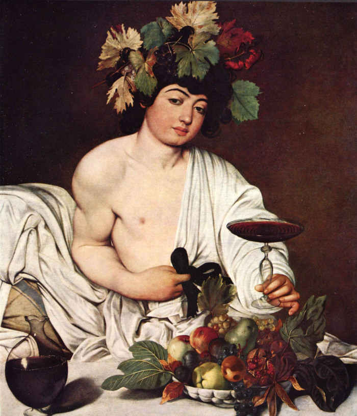 Caravaggio, Bacco, 1597 - da vitedivino
