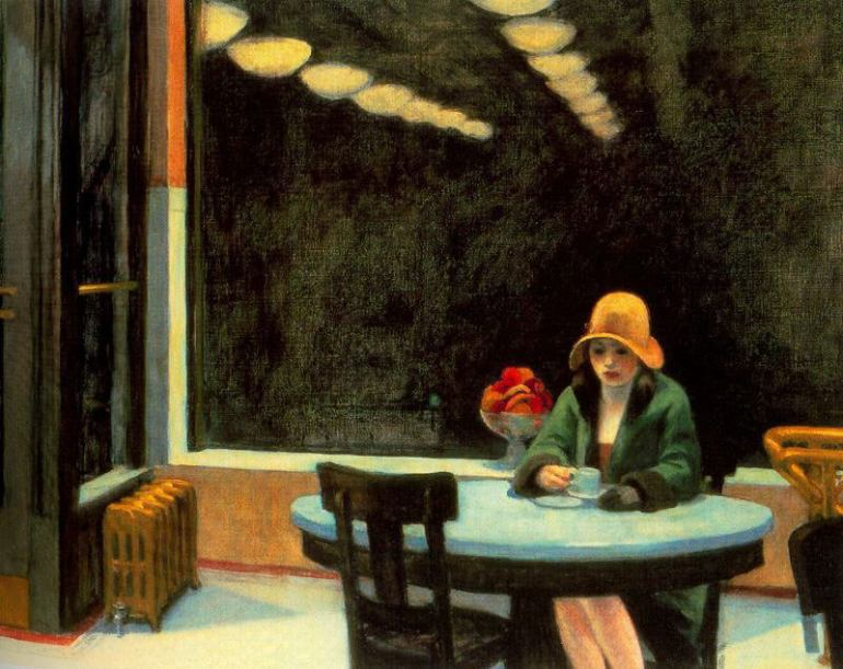 Edward Hopper il pittore della solitudine - Automat (1927) - da Things I Like Today