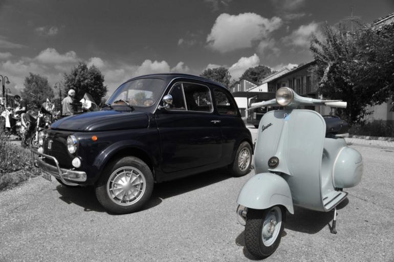 Fiat 500 e Vespa - da Living DECO