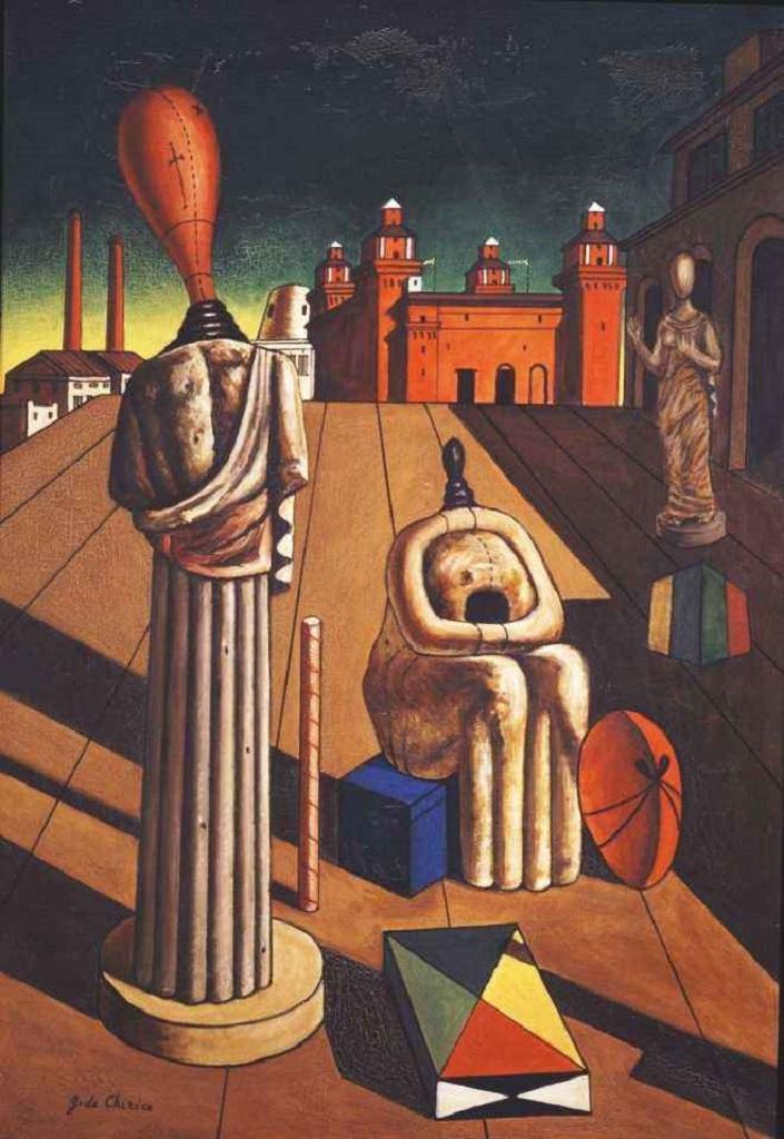 Giorgio De Chirico, Le muse inquietanti, 1917 - da Lo Stradone