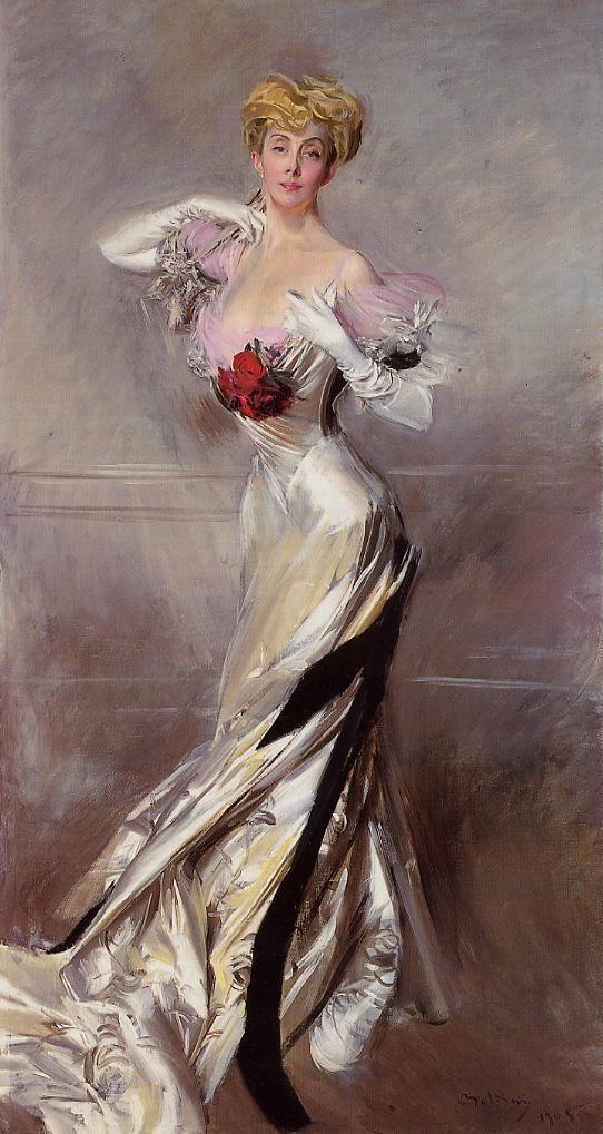 Giovanni Boldini (1842-1931) ritratto della Contessa Zichy, 1905 - da Pinterest