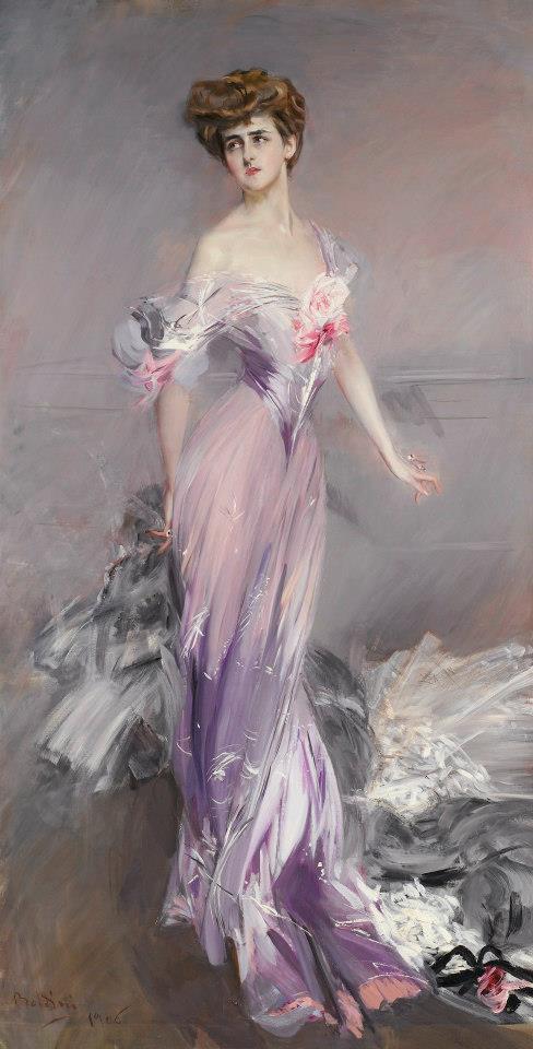 Giovanni Boldini - Ritratto di Mrs. Howard Johnston (1906) collezione privata - da Vestiti d'Arte