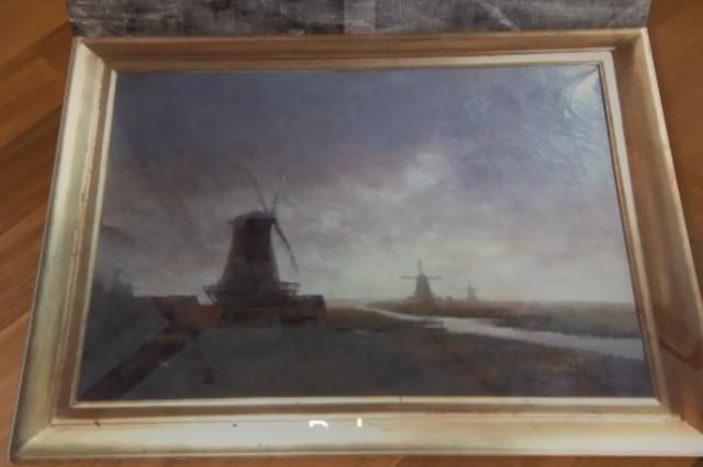 Il dipinto che celava il de Chirico.