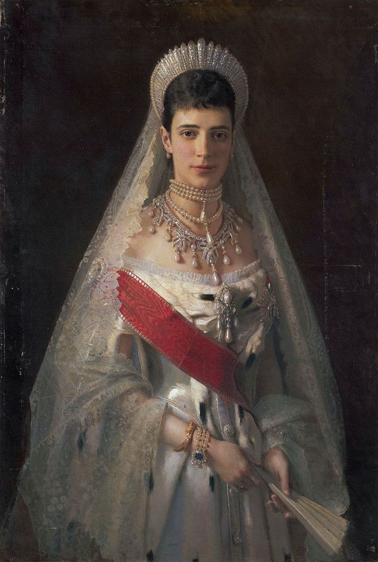Ivan Kramskoi, 1881, Maria Fyodorovna, born Princess Dagmar of Denmark , wife of russian tsar Alexander III - da Wikipedia