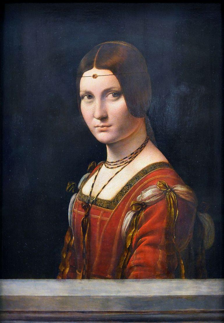 La belle ferronnière,Leonardo da Vinci - Louvre, 1490-1495 - da Wikipedia