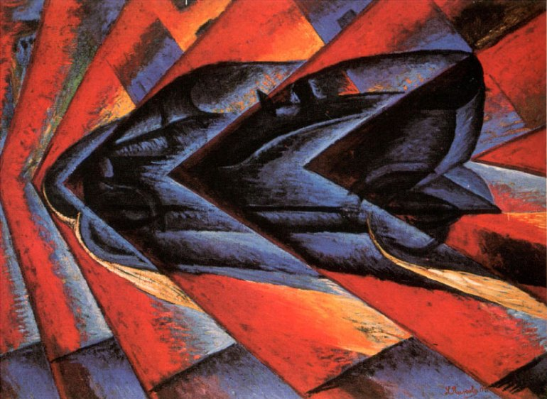 Luigi Russolo, Dinamismo di un'automobile, 1912-13 - da Arte & Football