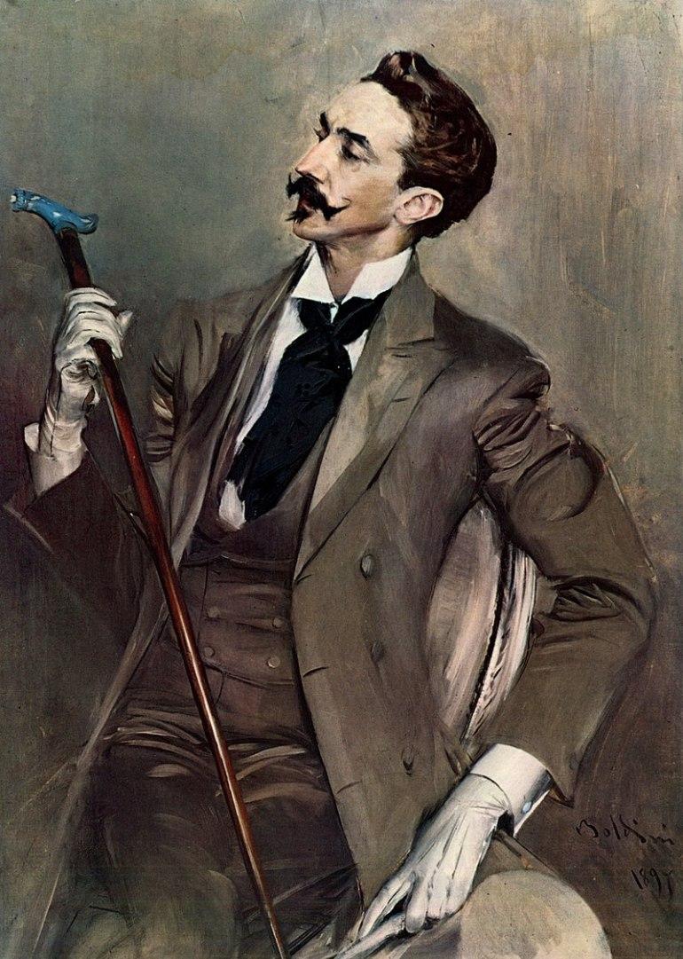 Ritratto di Robert de Montesquiou, 1897, olio su tela, 116x82,5 cm, Museo d'Orsay, Parigi - da Wikipedia