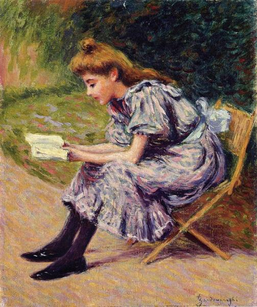 The Reader - Federico Zandomeneghi - da WikiArt