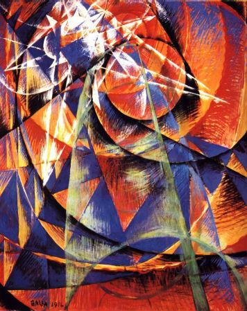 Giacomo Balla, Mercurio che passa davanti al Sole (1914)