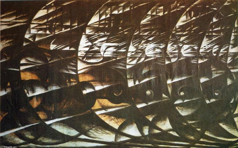 Giacomo Balla, Velocità Astratta, 1913