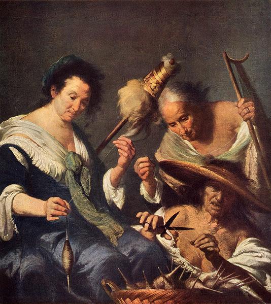 Le tre Parche di Bernardo Strozzi, 1664