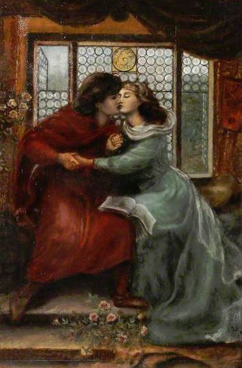 Paolo and Francesca da Rimini (after Dante Gabriel Rossetti) by Henry Treffry Dunn Date painted, c.1896-1898, National Trust.