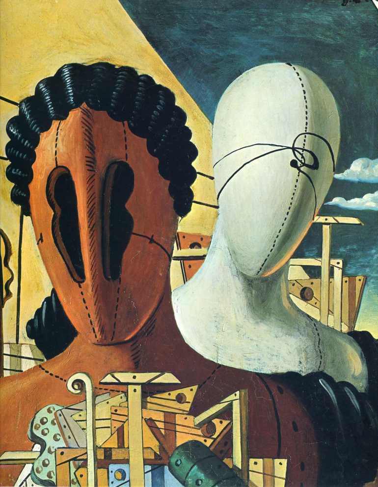 The Two Masks, 1926 — Giorgio de Chirico - da Teìrivium Art History