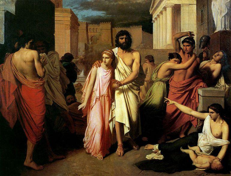 Charles Jalabert, 1842, La peste di Tebe