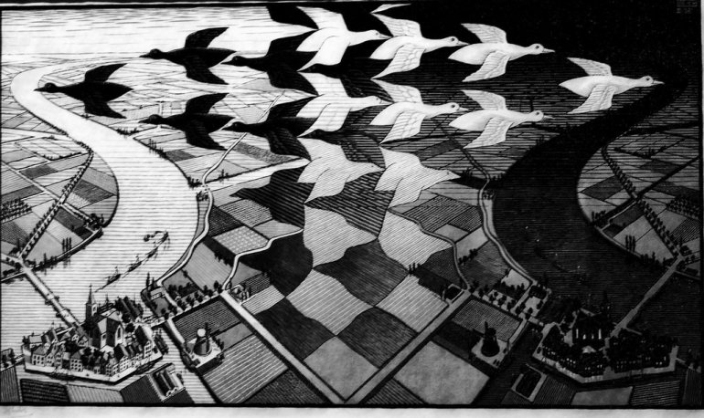 Day and night (1938) - Maurits Cornelis Escher - da Flickr