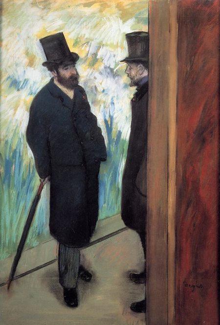 Edgar Degas – Amici a teatro, 1879 - da Cinque Cose Belle