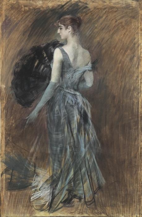 Giovanni Boldini, Signora bionda in abito da sera 1889 ca - da l'Espresso - La Repubblica