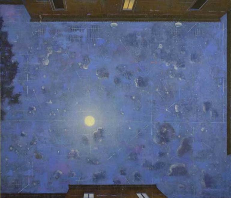 GIUSEPPE MODICA Geometrie di un cielo di notte 2016 - da Artemagazine