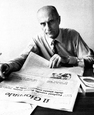 Indro Montanelli negli anni settanta. - da Wikipedia